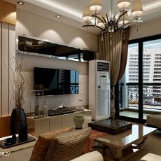 面积103平现代三居客厅装修效果图片大全