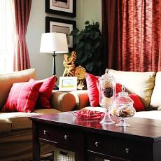 热门大小95平美式三居客厅装修欣赏图片