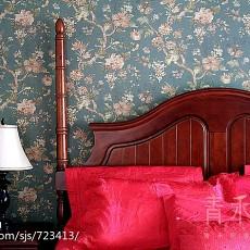 精美面积103平美式三居卧室装修欣赏图