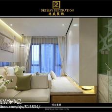 热门面积83平现代二居客厅装修实景图
