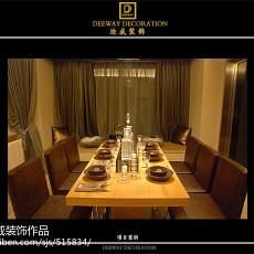 2018面积102平现代三居餐厅欣赏图