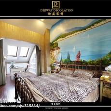 面积109平欧式三居卧室装修欣赏图