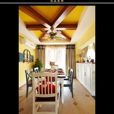 精选面积105平欧式三居餐厅装修效果图片大全