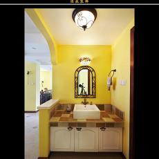 热门面积95平欧式三居卫生间装修效果图