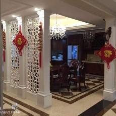 2018精选136平米欧式别墅餐厅装饰图片