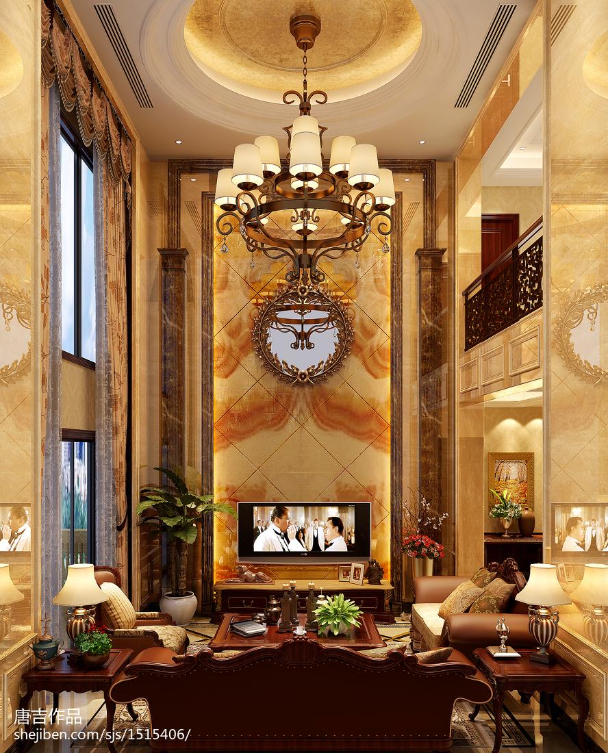 精选面积143平复式客厅欧式装饰图片欣赏