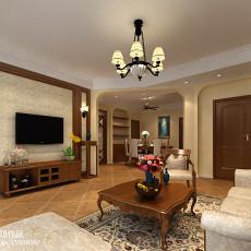 面积100平美式三居客厅装修设计效果图片