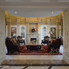 面积140平别墅客厅欧式装饰图片