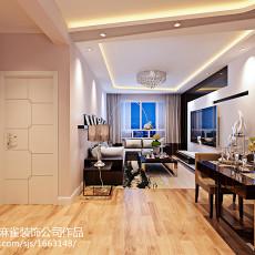 热门76平米二居客厅现代实景图片