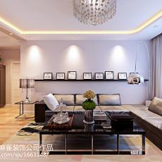 201884平米二居客厅现代装修效果图