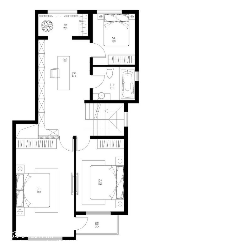 127平米现代复式休闲区装饰图