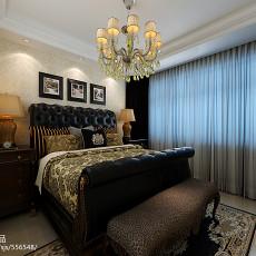 精选面积91平欧式三居卧室装修实景图