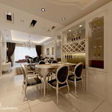 124平米四居餐厅欧式装修欣赏图片大全