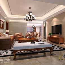 热门123平米四居客厅美式装修图片大全