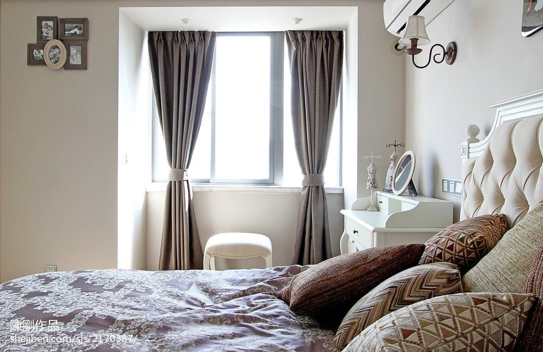 热门面积79平田园二居卧室装修效果图片
