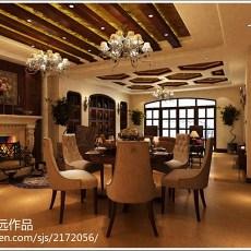 精选121平米四居客厅美式装修实景图