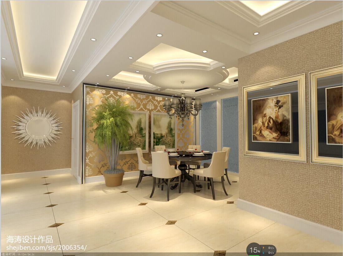 最热大小106平欧式三居餐厅装修图片大全