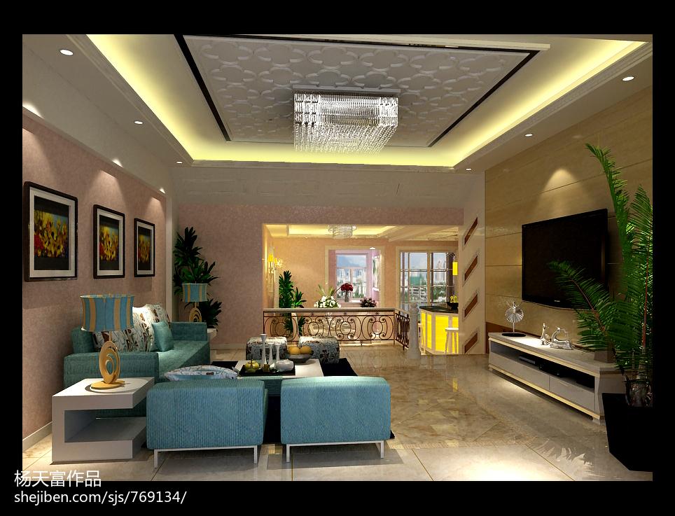 客厅吊顶设计效果图