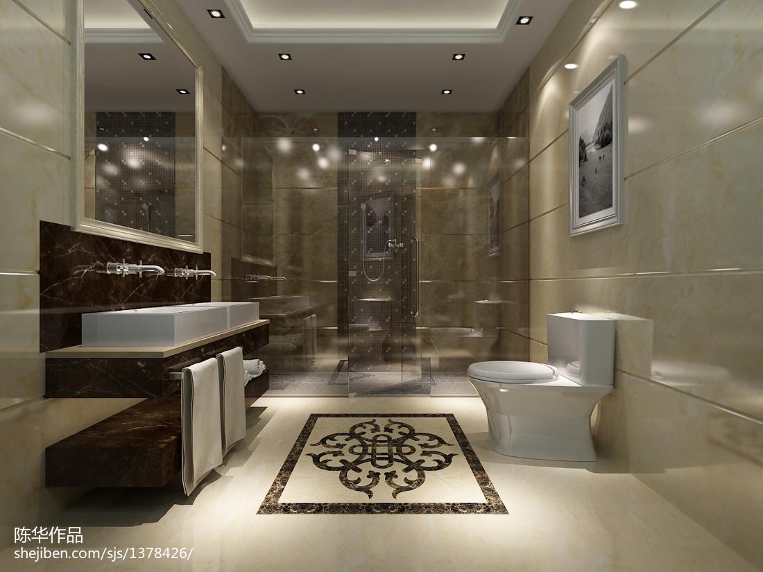 豪华别墅图片 回归自然的卫生间装修效果图大全