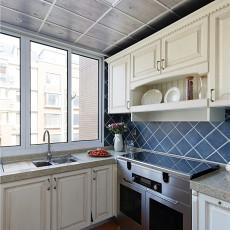 精美面积102平美式三居厨房装饰图片大全