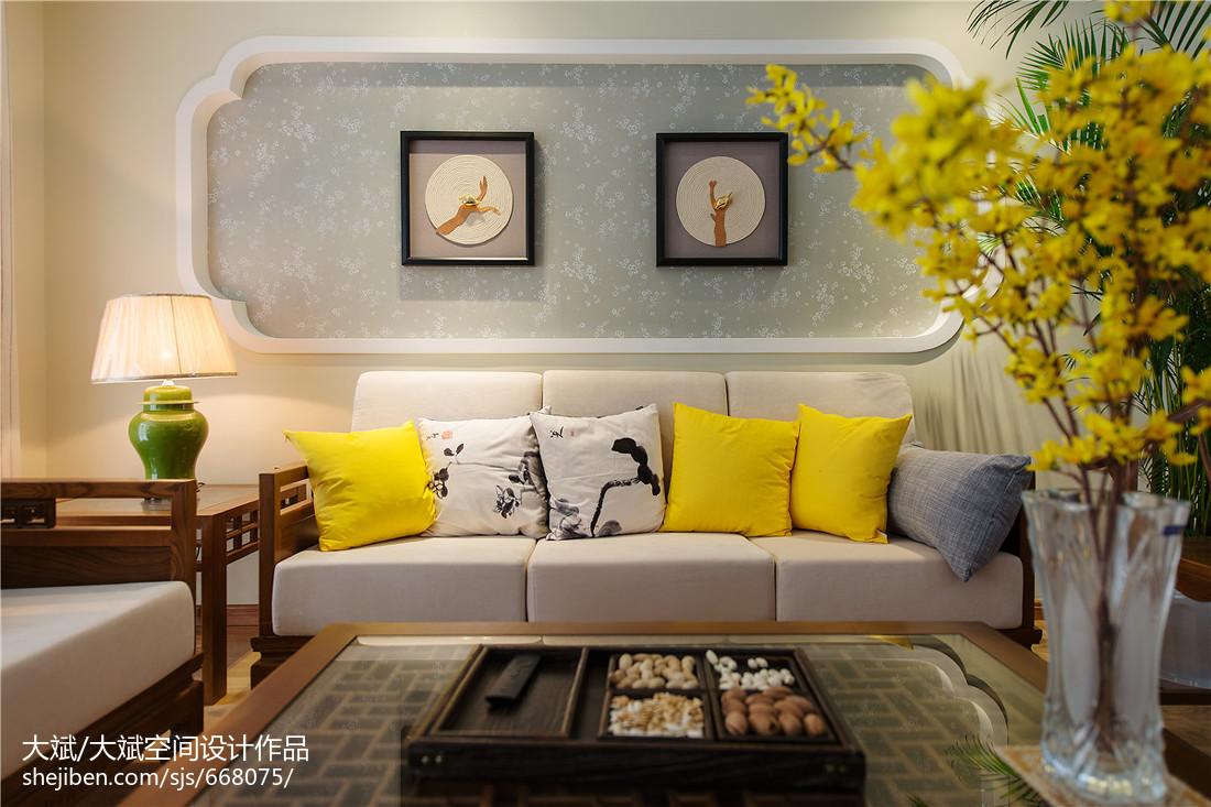 中式風格客廳背景墻裝修效果圖欣賞