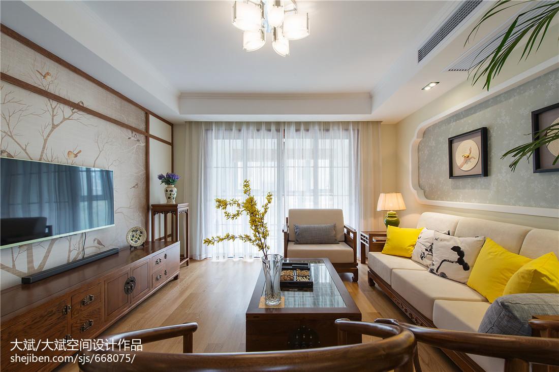 精选大小98平中式三居客厅装修欣赏图片大全