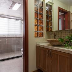 三居卫生间中式装修实景图片大全