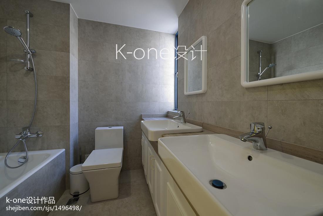 面积135平复式卫生间现代装修欣赏图片