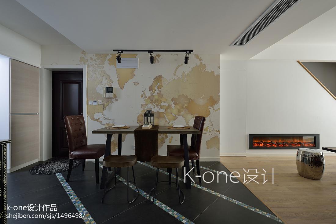 面积123平复式餐厅现代实景图
