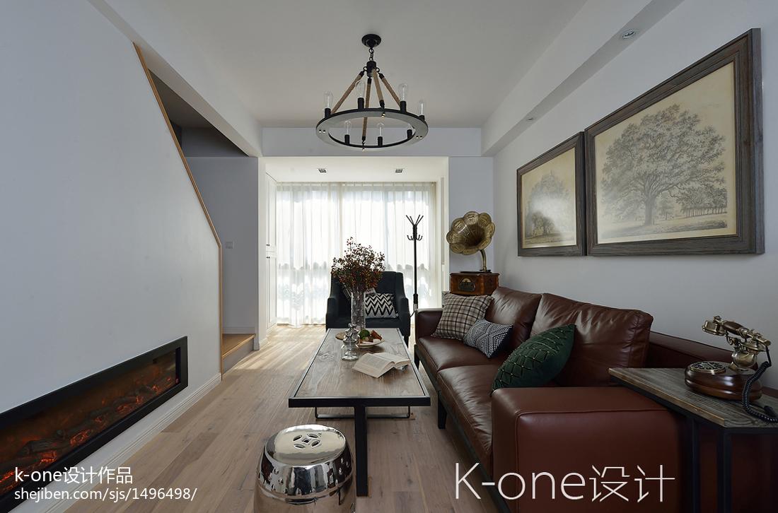 浪漫70平现代复式客厅装饰图