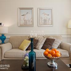 美式风格客厅背景墙装修图片展示