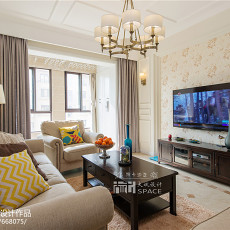 精美108平米三居客厅美式装修欣赏图片