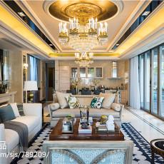热门东南亚别墅客厅效果图片欣赏