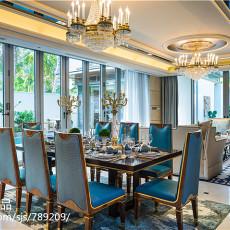 热门117平米东南亚别墅餐厅欣赏图片