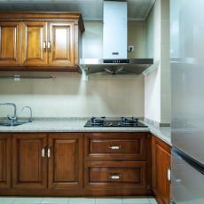 精美面积96平美式三居厨房实景图