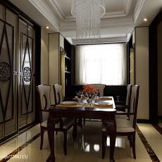 精美127平米四居餐厅混搭设计效果图
