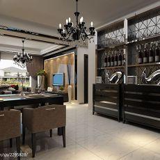 面积126平现代四居餐厅装修设计效果图片欣赏