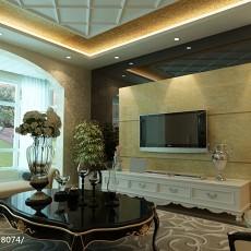 精美面积89平欧式二居客厅装修图片大全