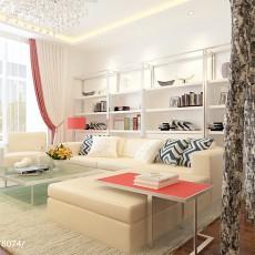 面积78平现代二居客厅装修图片大全