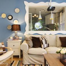 99平米三居客厅现代效果图
