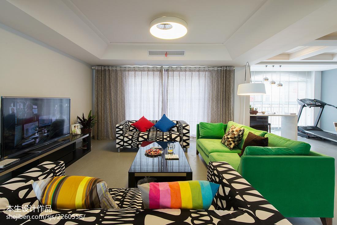 精美143平米现代复式客厅装修设计效果图