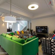 精选133平米现代复式客厅装饰图