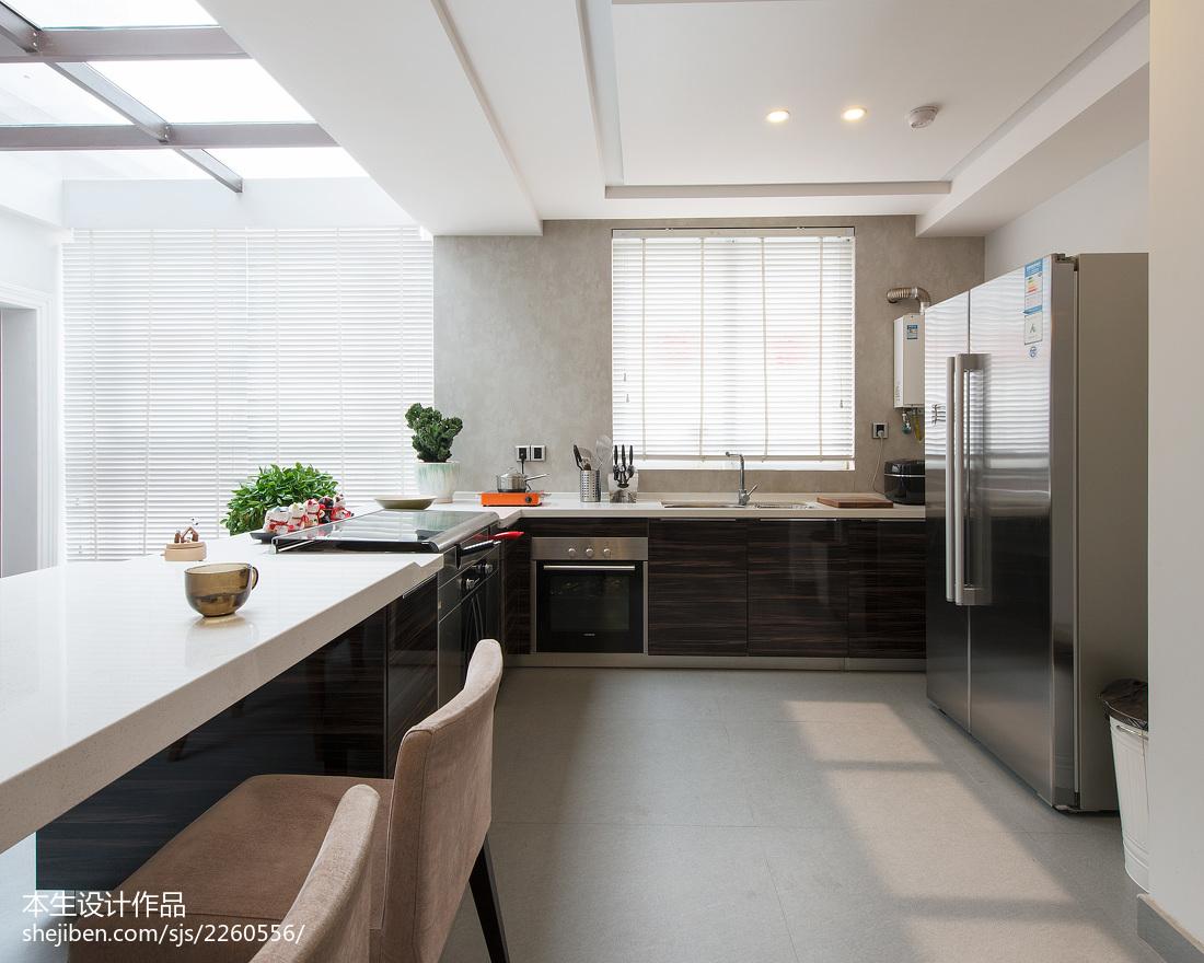 2018现代复式厨房装饰图片大全