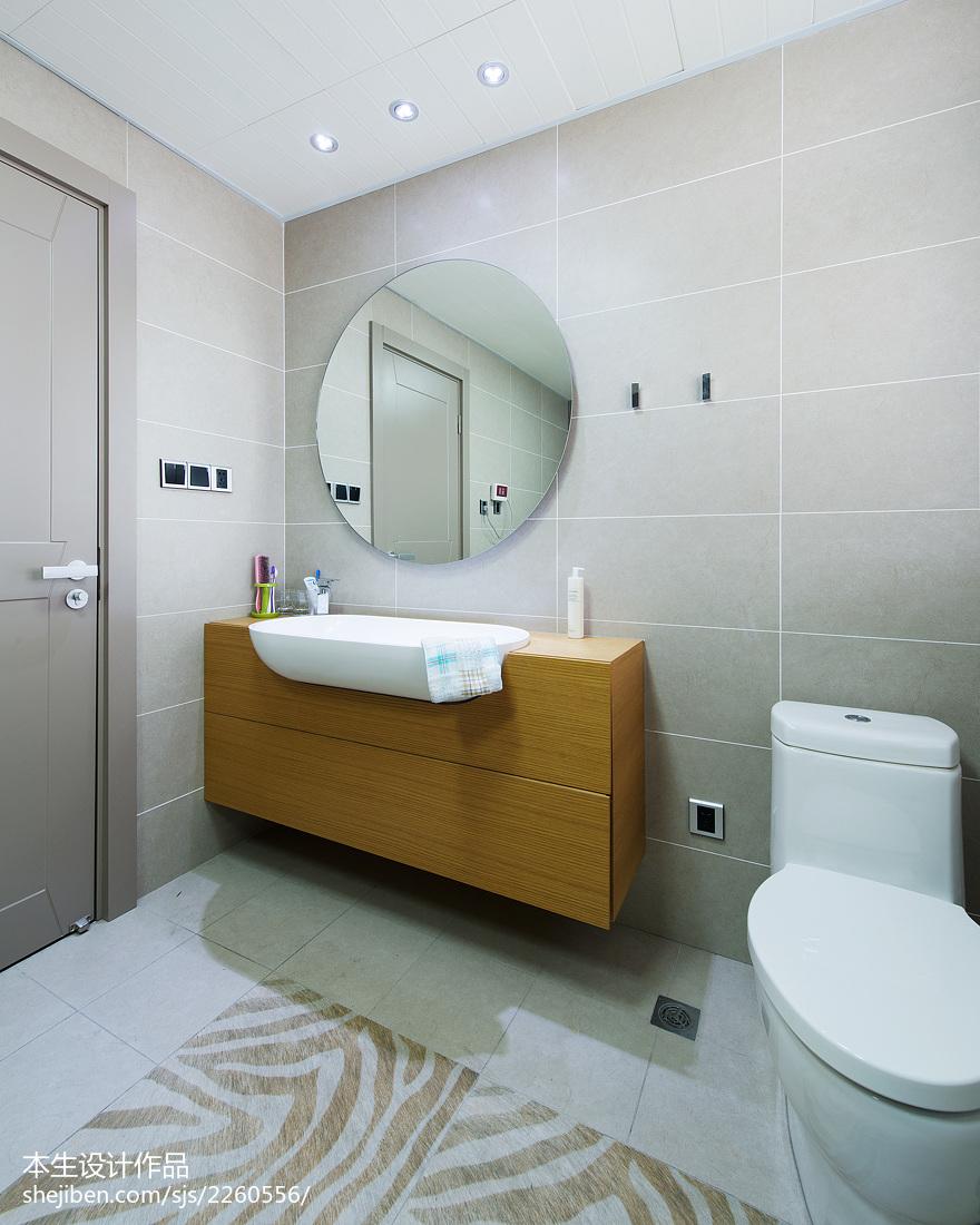 热门144平米现代复式卫生间装修图片欣赏