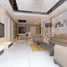 2018精选97平方三居客厅现代装修图片