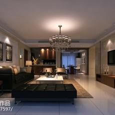 134平米四居客厅现代装饰图片大全