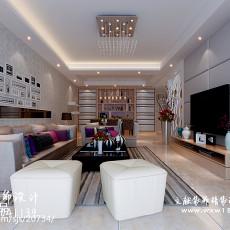 101平客厅三居现代实景图片欣赏