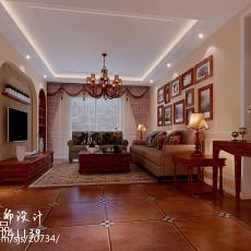 热门99平客厅三居现代装饰图片
