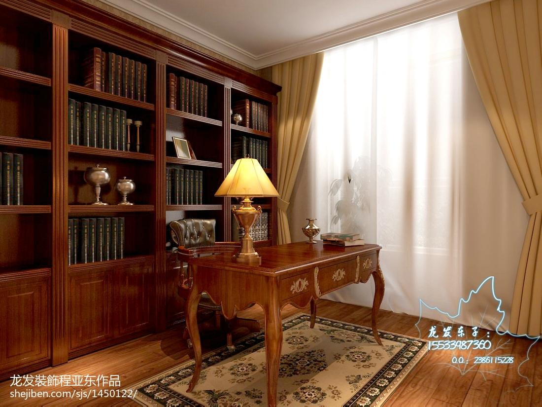 二楼家庭书房装修效果图