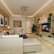 热门面积75平小户型客厅现代装修实景图片